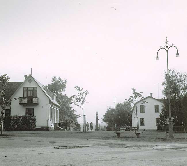 Torget i Skälderviken på 1950-talet