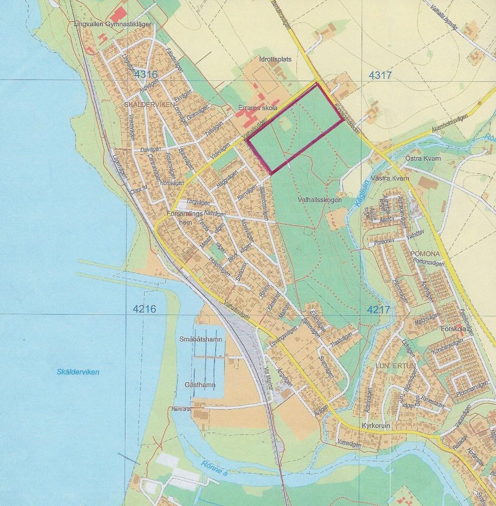 Karta - ÖP 2035 möjlig bebyggelse